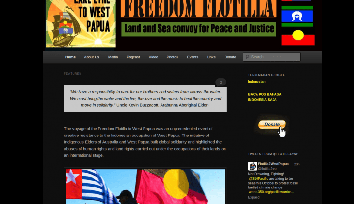 Freedom Flotilla to West Papua