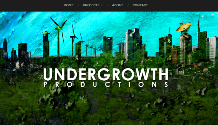 Undergrowth Film and Television Productions Website Homepage